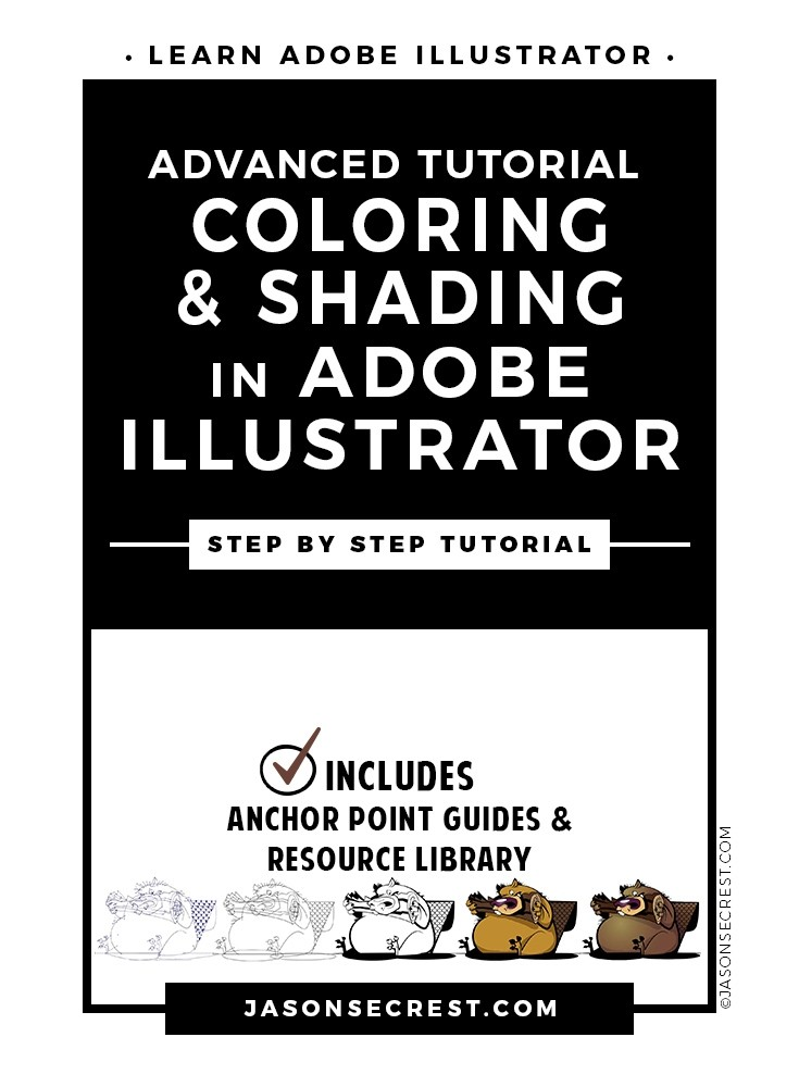 Advanced Illustrator Coloring Shading Tutorial
