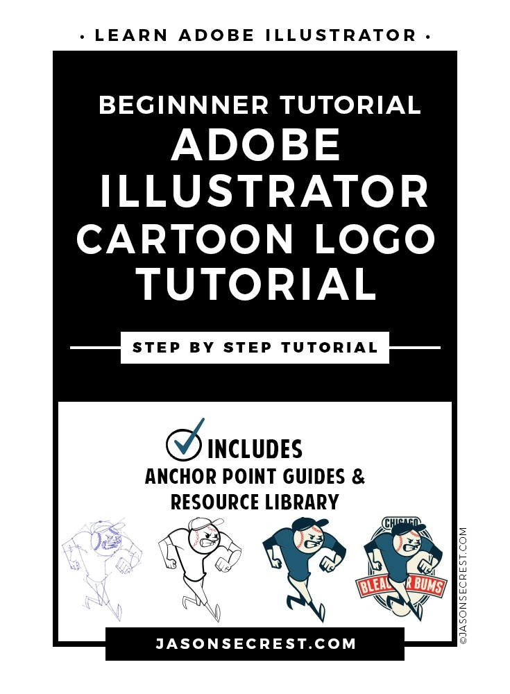 adobe illustrator cartoon logo tutorial