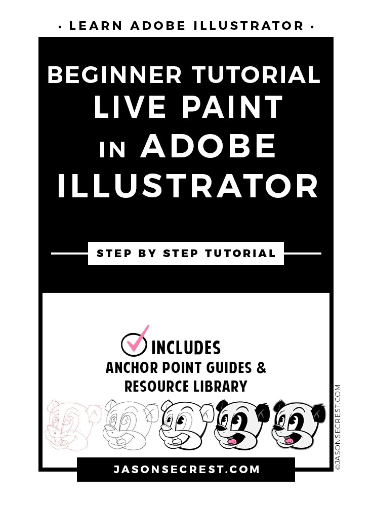 Beginner Illustrator Tutorial using Live Paint