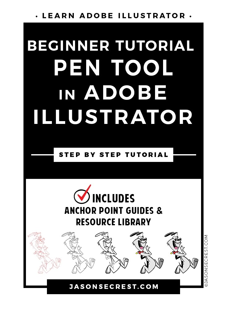 Beginner Illustrator Tutorial using Pen Tool
