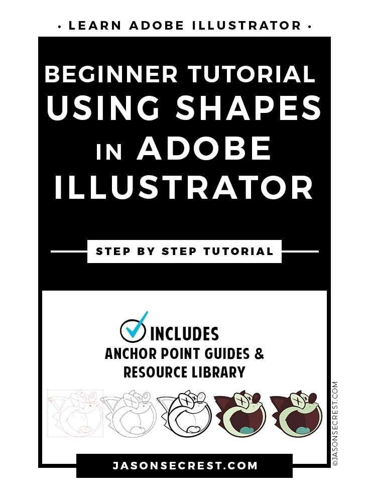 Beginner Adobe Illustrator Tutorial using Shapes