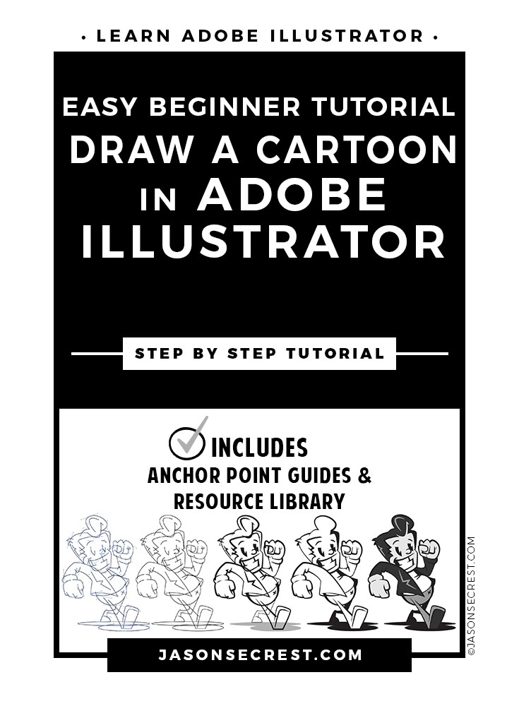 Easy Beginner Illustrator Cartoon Tutorial