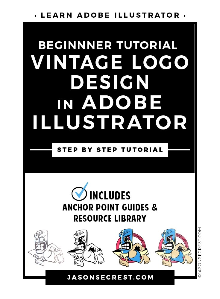 Adobe Illustrator Tutorial using Vintage T-Shirt Effect