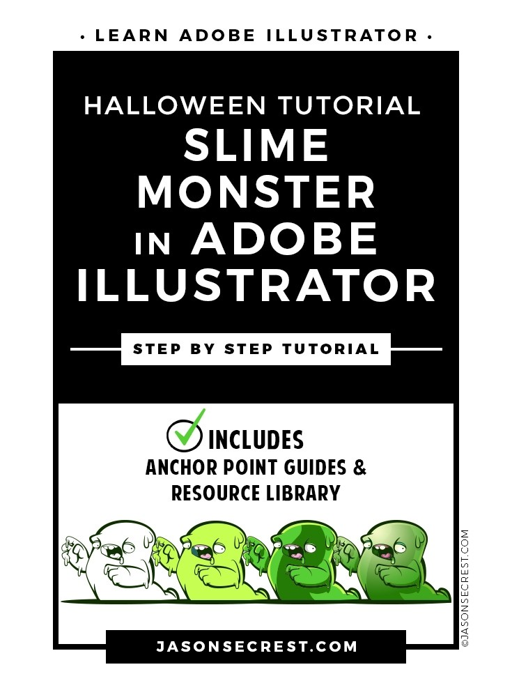 Adobe Illustrator Tutorial Halloween Slime Monster
