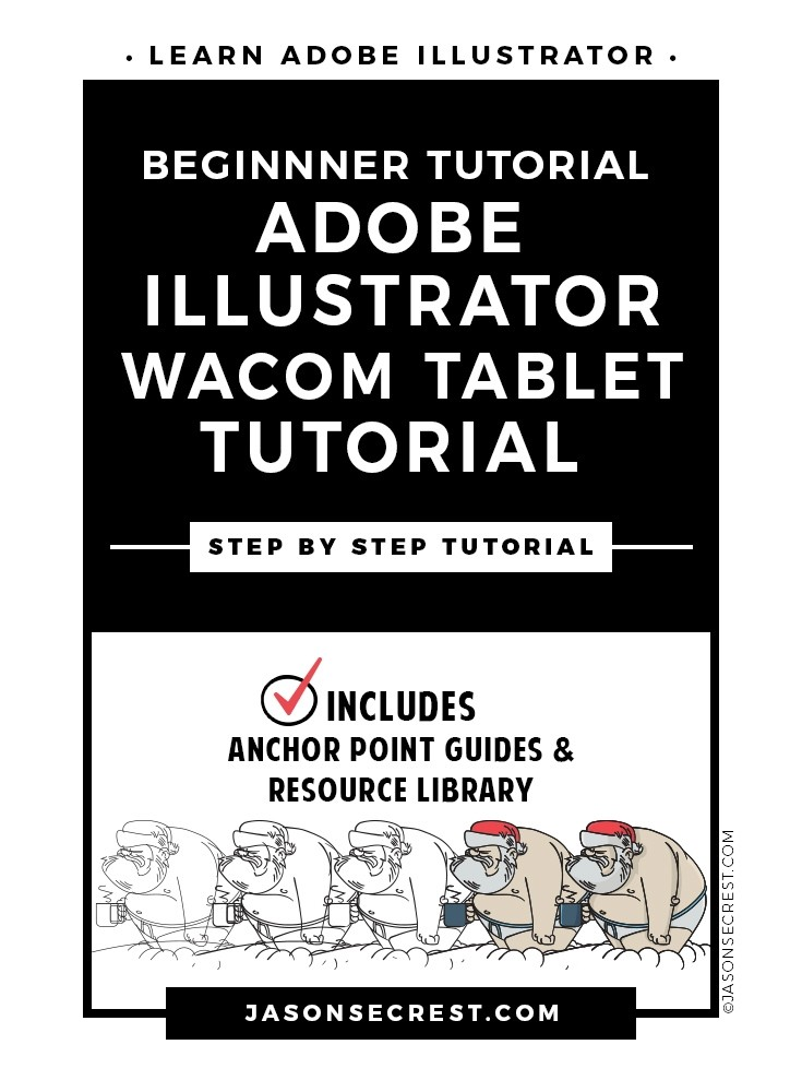 Step by Step Adobe Illustrator Tutorial using a Santa Character in Underpants