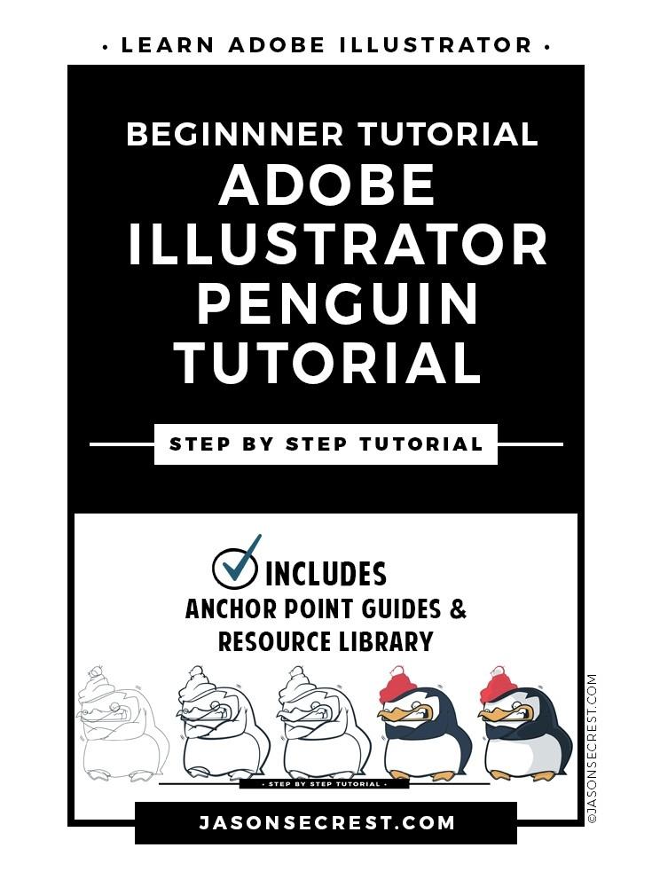 Adobe Illustrator Tutorial using a Shivering Penguin Cartoon