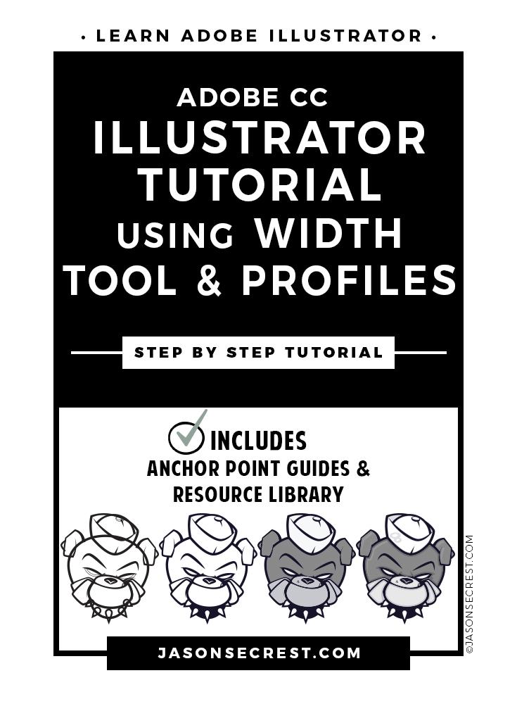 Adobe illustrator tutorial of a bulldog logo