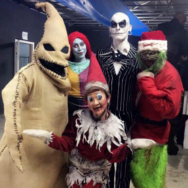 Nashville Nightmare cast dressed as Christmas Creatures