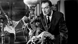 Vincent Price in a haunted house