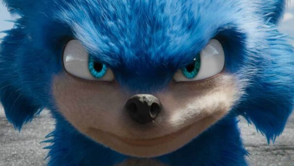 Sonic the Hedgehog starring directly into the camera with a confident smirk on his face