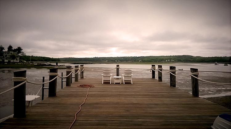View of Pier Overlooking the Annisquam River