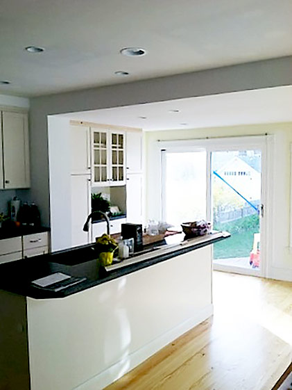 Completed Open Concept Kitchen & Island