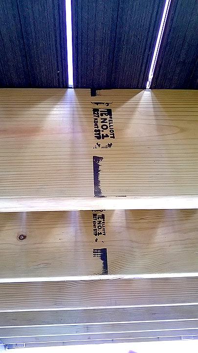 Underside of Deck Framing