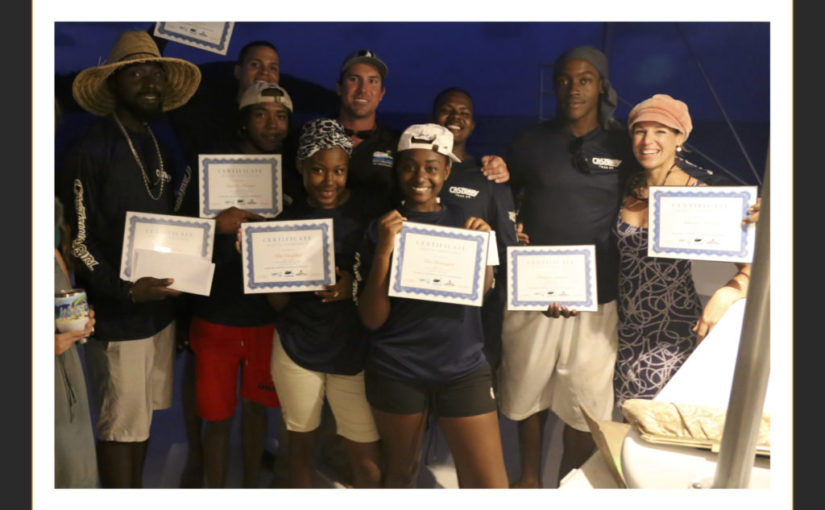 Graduation of 7 VI young adults into marine industry careers on the water!