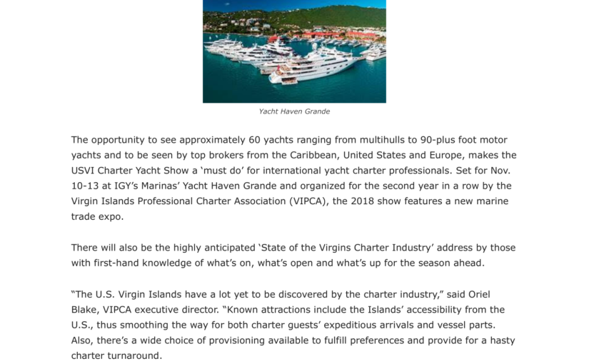 The Source – Yacht Show – Article Sept 2018