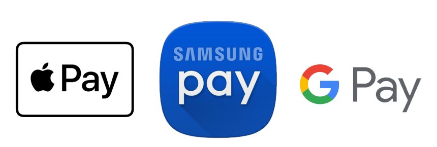Apple Pay, Google Pay, Samsung Pay