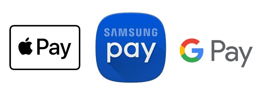 Apple Pay, Google Pay, Samsung Pay