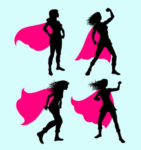 The super heroine