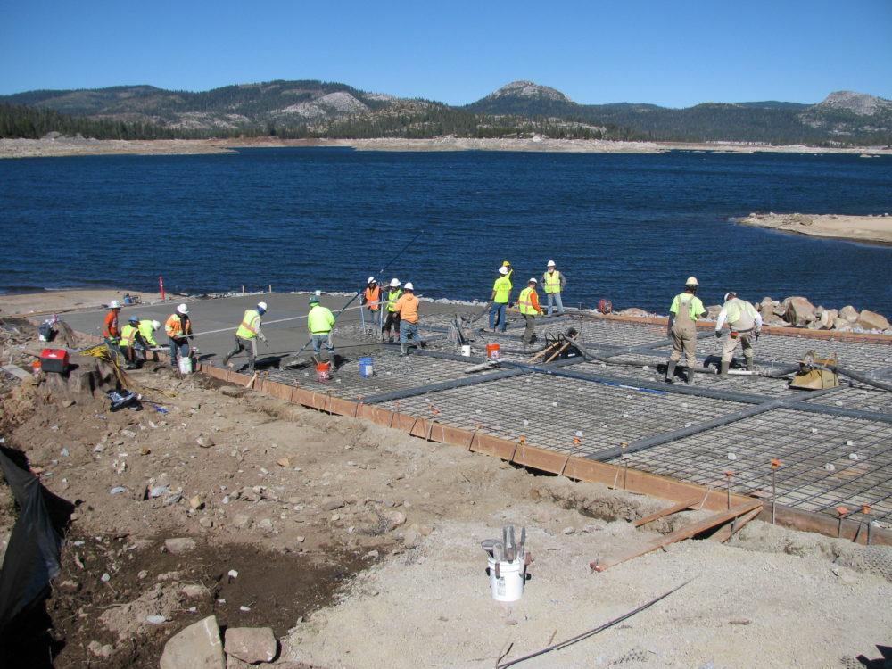 Boat Ramp Construction