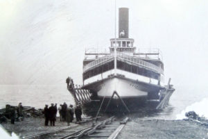 Horicon II being pulled up in the early 1930s