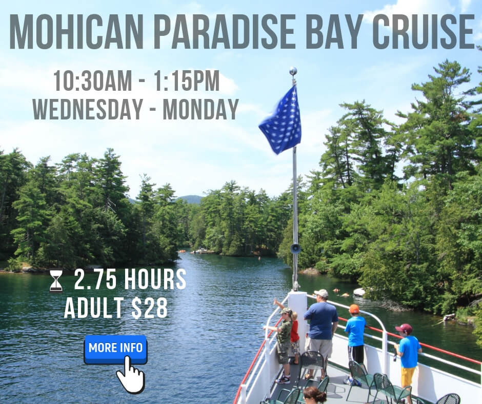 mohican paradise bay cruise click for more info