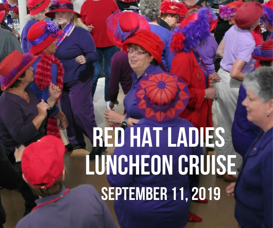 red hat ladies luncheon cruise