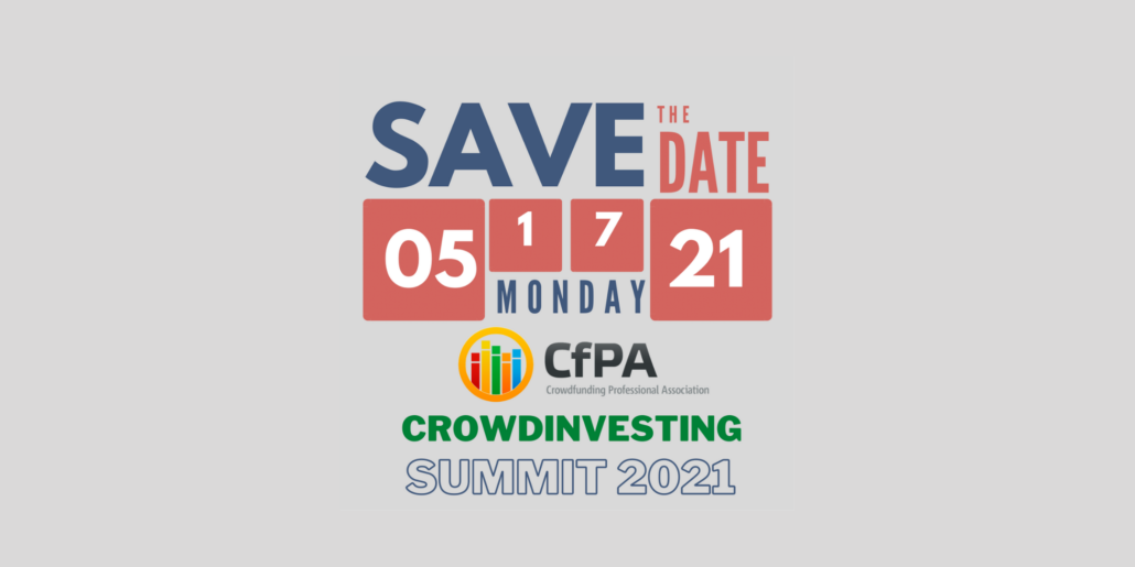 CfPA Virtual CrowdInvesting Summit 2021