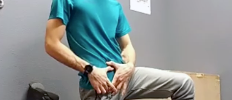 Trevor showing exercises