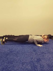Push-up into Pike Plank Position 1