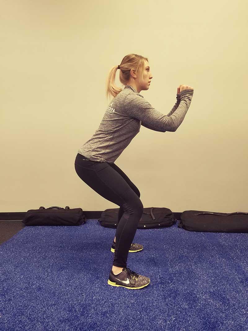 Squatting Lunge Position 1