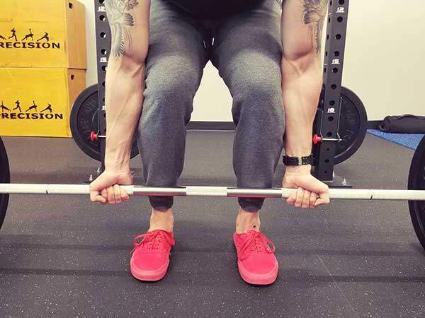 Supinated Deadlift Grip