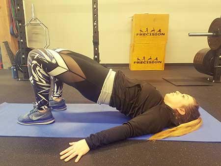 Body Weight Glute Bridge Position 2