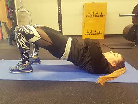 Body Weight Marching Glute Bridge Position 1