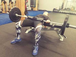 Barbell Sumo Glute Bridge Position 2