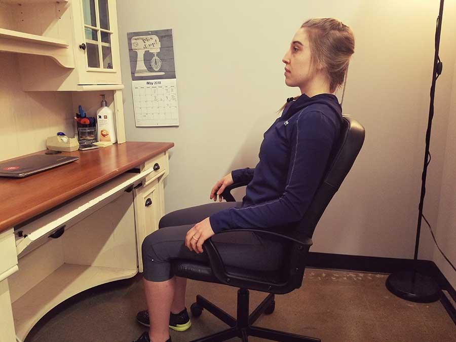 Office Ergonomics in chair