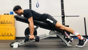 Prone Reverse Row Position 1