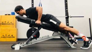 Prone Reverse Row Position 2