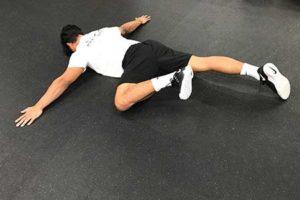 Prone Leg Lift Position 1