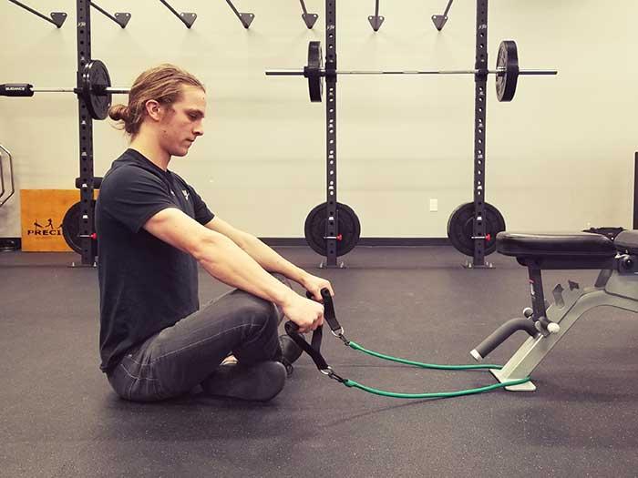 Seated Shoulder Flexion Position 1