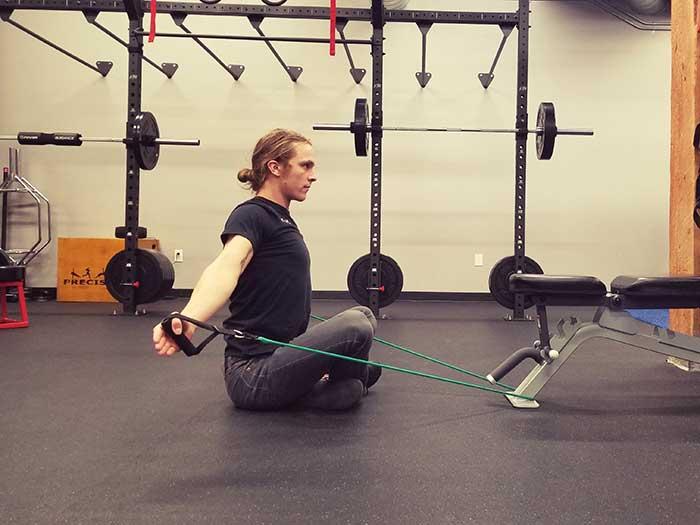 Seated Shoulder Flexion Position 2