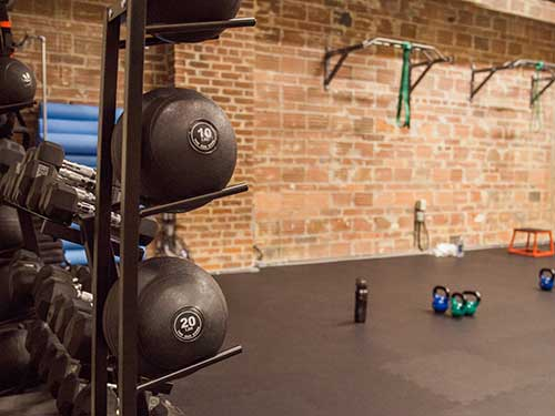 Various gym equipment at Precision Personal Training