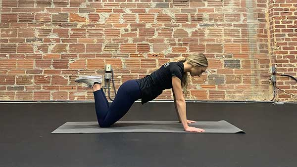 Proper knee push up in upper position