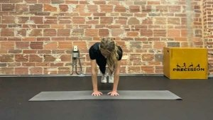 Narrow grip push up in upper position