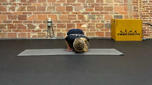 Narrow Grip Push Up in Lower Position front view