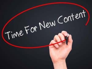 Provide new content for your website