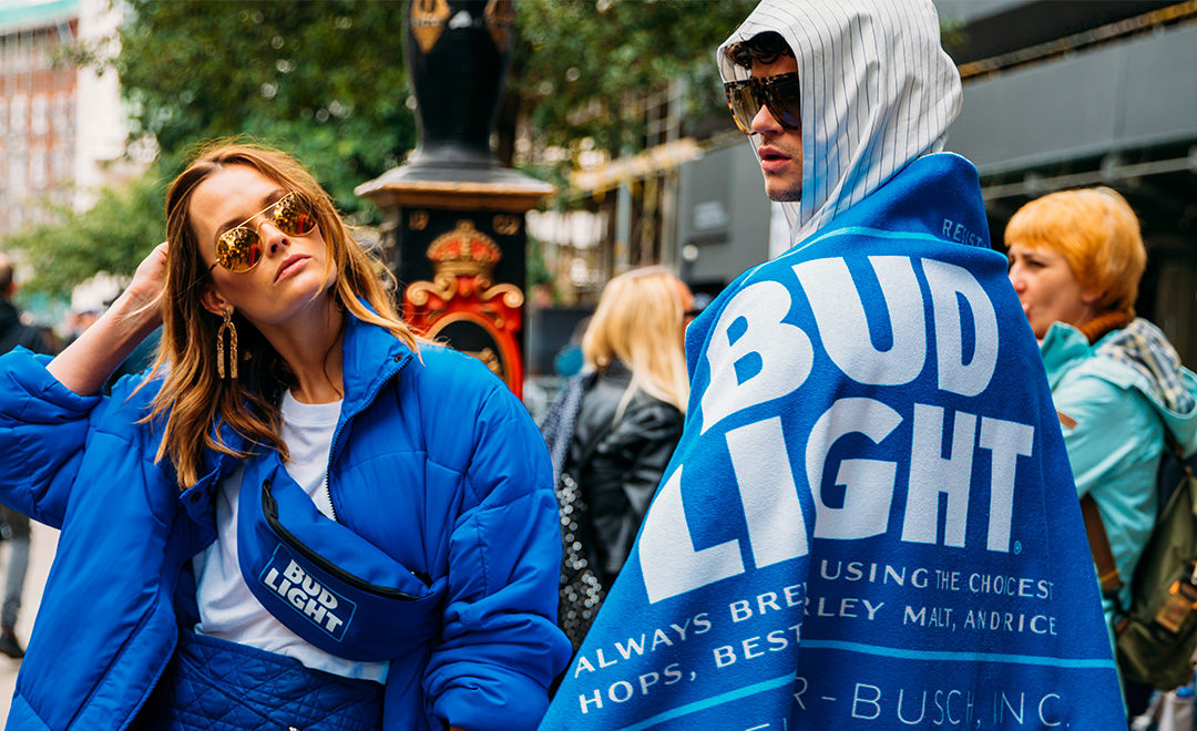 Bud Light is Looking B̶o̶o̶z̶y̶ Bougie at London Fashion Week