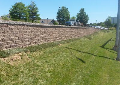 Des Peres retaining wall