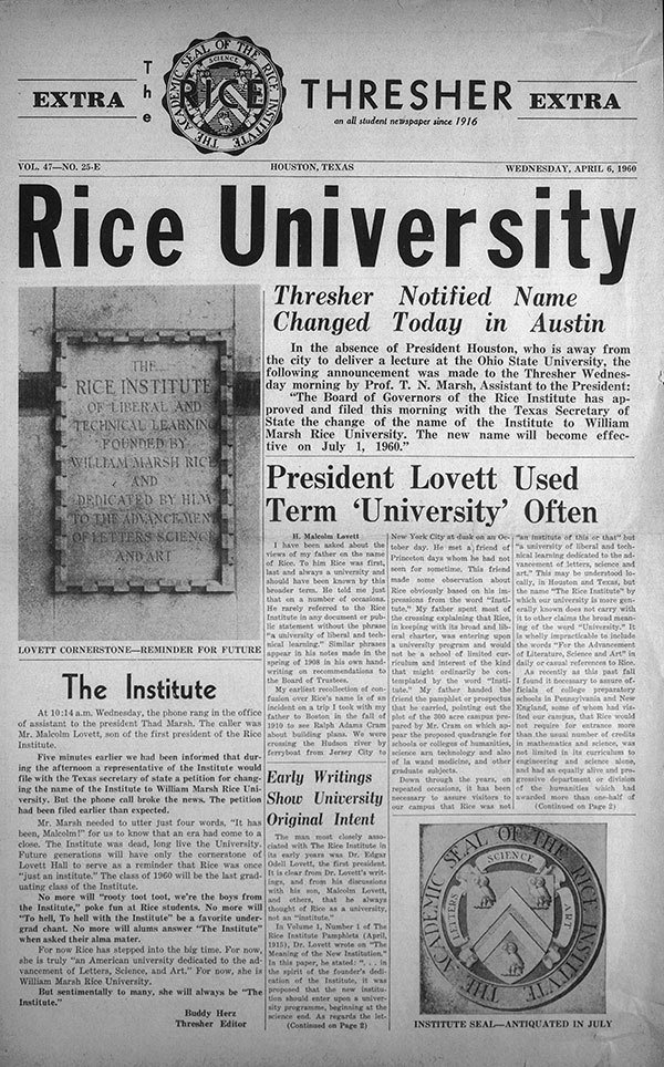 1960-Thresher-name-change