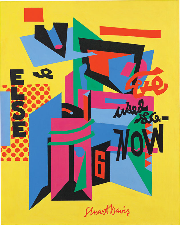 Stuart Davis (1892–1964), Owh! in San Pao, 1951. Whitney Museum of American Art, New York; purchase 52.2. © Estate of Stuart Davis / Licensed by VAGA, New York, NY