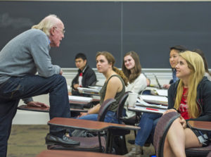 Dennis Huston teaching class